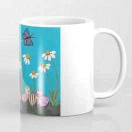 Easter Bunny With Daisies Coffee Mug