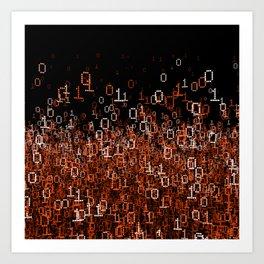 Binary Cloud II Art Print