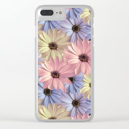 Pink Yellow Blue Clear iPhone Case