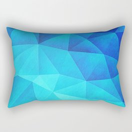 Abstract Polygon Multi Color Cubizm Painting in ice blue Rectangular Pillow