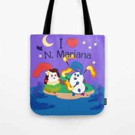 Ernest & Coraline | I love Northern Mariana Islands Tote Bag