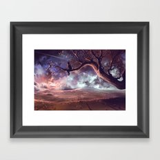 It made scars in the sky  Framed Art Print