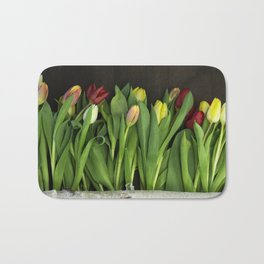 tulips wall Bath Mat