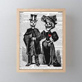 Calavera Couple Framed Mini Art Print