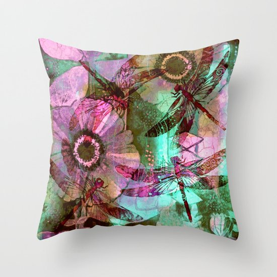 Dragonflies in a Dream Throw Pillow