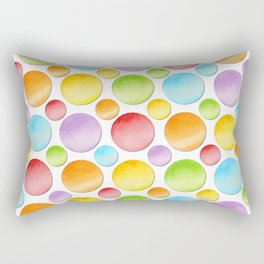 Rainbow Polka Dots Rectangular Pillow
