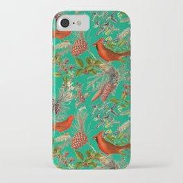 CARDINAL'S SONG - Green  iPhone Case