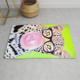 Bubblegum Glasses Leopard Rug