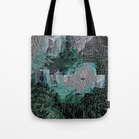 grid Tote Bags featuring Grid by Leanne Miller