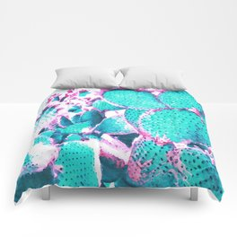 Cactus - watercolor Comforters