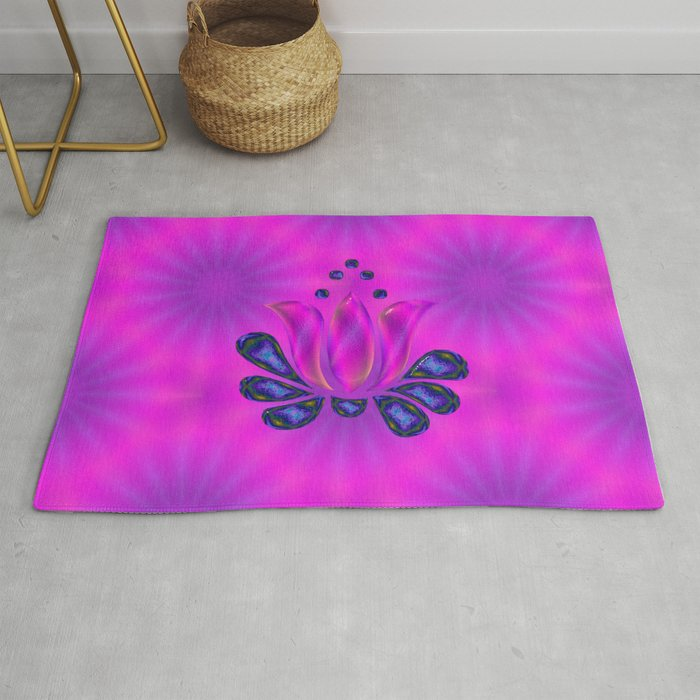 Born of Lotus Abstract Art Rug