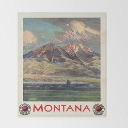 Vintage poster - Montana Throw Blanket