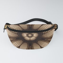 Abstract flower mandala with geometric texture Fanny Pack