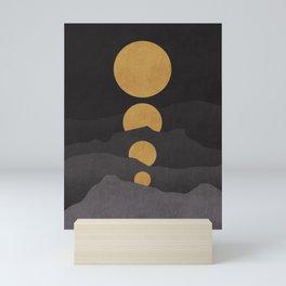 Rise of the golden moon Mini Art Print