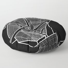 Pockets - Inverted B&W Floor Pillow