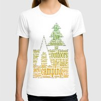 camping T-shirts featuring Camping by windkist