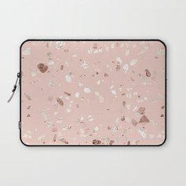 Blush Pink + Rose Gold Terrazzo Laptop Sleeve