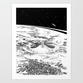 Space upon us Art Print