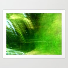 Green Grass Tunnel Art Print