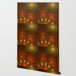 Fantasy in Copper and Gold Wallpaper