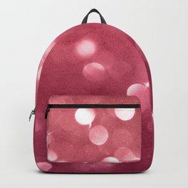Elegant glam burgundy red bokech glitter gradient  Backpack