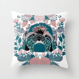 Shih tzu love Throw Pillow