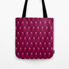Pink vintage feather pattern Tote Bag