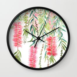 bottle brush tree flower Wall Clock