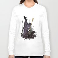 maleficent Long Sleeve T-shirts featuring Maleficent by Louise Hubbard
