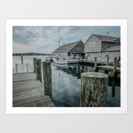 Fishing Dock - Edgartown Art Print