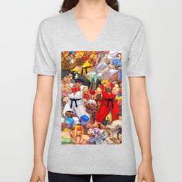 Street Fighter Third Strike - Fight! Unisex V-Neck