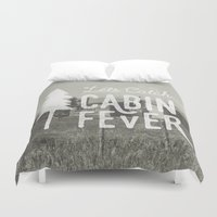 cabin Duvet Covers featuring CABIN FEVER by cabin supply co