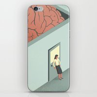 psychology iPhone & iPod Skins featuring Brain Room by Davide Bonazzi