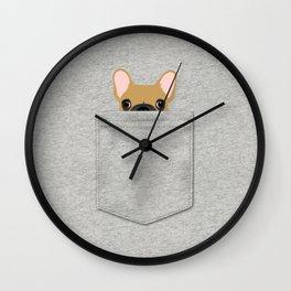 Pocket French Bulldog - Fawn Wall Clock