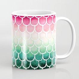 Retro Melon Mermaid Scales Coffee Mug