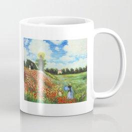 Claude Monet - Poppy Field at Argenteuil Coffee Mug