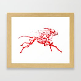 Red Hellhound Framed Art Print