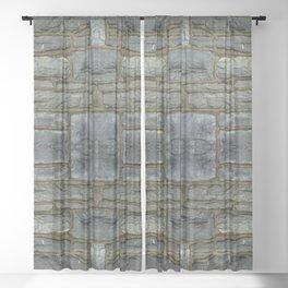 Stone Wall Sheer Curtain
