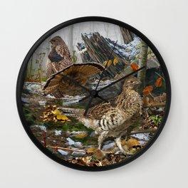 Ruffed Grouse Wall Clock