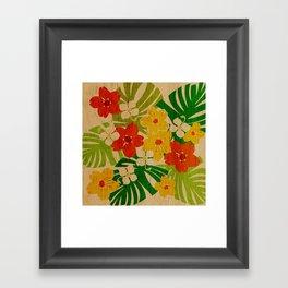 Limahuli Garden Hawaiian Floral Design Framed Art Print