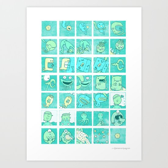 The story of being eaten Art Print