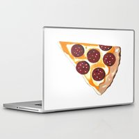 pizza Laptop & iPad Skins featuring Pizza by Sartoris ART