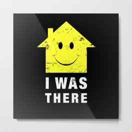 Acid House. I Was There 80s Techno Metal Print