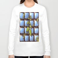 technology Long Sleeve T-shirts featuring Technology Vs Nature  by The Art Experiment co