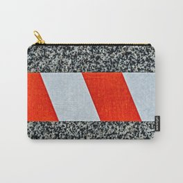 Red warning tape across granite stone Carry-All Pouch