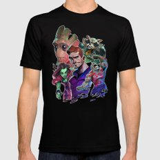 Guardians of the Galaxy Black Mens Fitted Tee X-LARGE