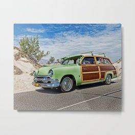 Woodie on the Beach Metal Print