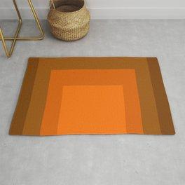 Block Colors - Orange Rug