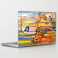 les mis Laptop & iPad Skins featuring les siamois by sylvie demers