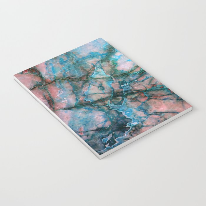 Pink and Blue Marble Notebook
